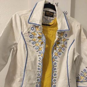 🌼Bob Mackie jacket with the under shirt